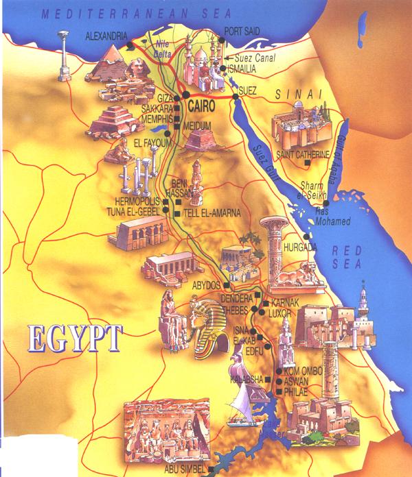 kongenes dal kart Egypt kongenes dal kart